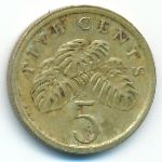 Сингапур, 5 центов (1987–1990 г.)