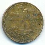 Барбадос, 5 центов (1973–2000 г.)
