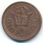 Барбадос, 1 цент (1995–2005 г.)