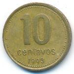 Аргентина, 10 сентаво (1992–2005 г.)
