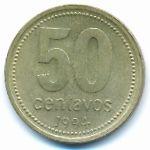 Аргентина, 50 сентаво (1994–2010 г.)
