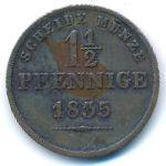 Саксен-Кобург-Гота, 1 1/2 пфеннига (1835 г.)