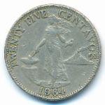 Филиппины, 25 сентаво (1964–1966 г.)