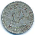 Восточные Карибы, 25 центов (1955–1965 г.)
