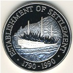 Pitcairn Islands, 1 dollar, 1990