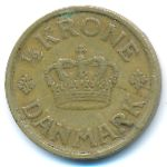 Дания, 1/2 кроны (1924–1925 г.)