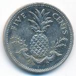 Багамские острова, 5 центов (1975–2005 г.)