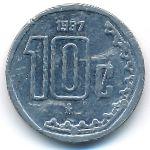 Мексика, 10 сентаво (1997–2000 г.)