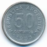 Аргентина, 50 сентаво (1953–1955 г.)