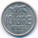 Норвегия, 10 эре (1959–1973 г.)