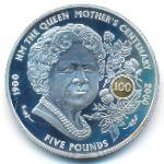 Гернси, 5 фунтов (2000 г.)
