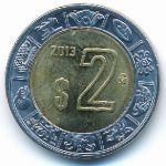 Мексика, 2 песо (2013 г.)