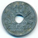 Франция, 10 сентим (1943–1944 г.)