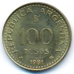Аргентина, 100 песо (1981 г.)