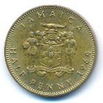 Ямайка, 1/2 пенни (1964–1966 г.)