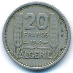 Алжир, 20 франков (1949–1956 г.)