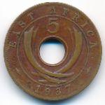 Восточная Африка, 5 центов (1937–1941 г.)