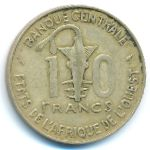 Западная Африка, 10 франков (1966–1977 г.)