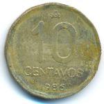 Аргентина, 10 сентаво (1986–1988 г.)