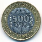 Западная Африка, 500 франков (2005 г.)