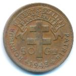 French Equatorial Africa, 50 centimes, 1943