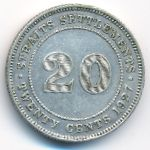 Стрейтс-Сетлментс, 20 центов (1927 г.)