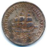 ЮАР, 1 пенни (1937–1943 г.)