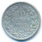 Нидерланды, 10 центов (1879–1889 г.)