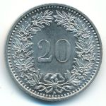 Швейцария, 20 раппенов (1955–2016 г.)
