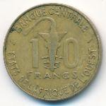 Западная Африка, 10 франков (1977 г.)