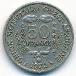 Западная Африка, 50 франков (1972–2012 г.)