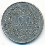 Западная Африка, 100 франков (1969–1982 г.)