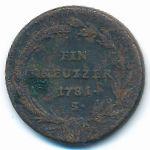 Австрия, 1 крейцер (1781–1790 г.)
