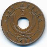 Восточная Африка, 5 центов (1923–1935 г.)