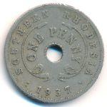 Южная Родезия, 1 пенни (1937–1942 г.)