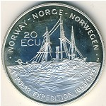 Norway, 20 ecu, 1993