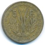 Французская Западная Африка, 5 франков (1956 г.)