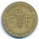 Западная Африка, 5 франков (1968–1990 г.)