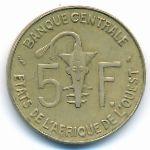Западная Африка, 5 франков (1976 г.)