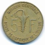 Западная Африка, 5 франков (1977 г.)