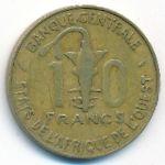 Западная Африка, 10 франков (1976 г.)