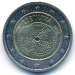 Литва, 2 евро (2016 г.)