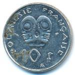 Французская Полинезия, 10 франков (1979–2000 г.)