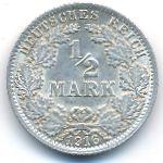 Германия, 1/2 марки (1905–1918 г.)
