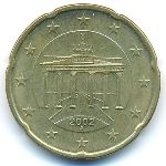 Германия, 20 евроцентов (2002 г.)