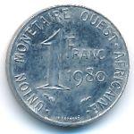 Западная Африка, 1 франк (1977–1980 г.)