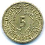 Веймарская республика, 5 рентенпфеннигов (1924 г.)