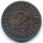 Веймарская республика, 2 рентенпфеннига (1923–1924 г.)