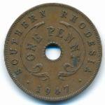 Южная Родезия, 1 пенни (1942–1947 г.)