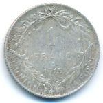 Бельгия, 1 франк (1912–1913 г.)
